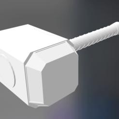 Fichier imprimante 3D gratuit Mjolnir_Thor_s_Hammer_The_Avengers_Version, Max73D
