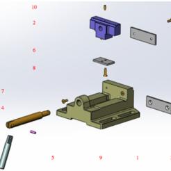 Modelos 3D para imprimir gratis vice taladro, Max73D