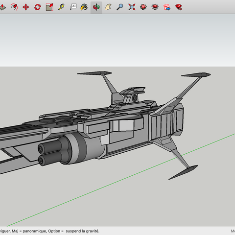 Free 3D model SpaceShip, Max73D