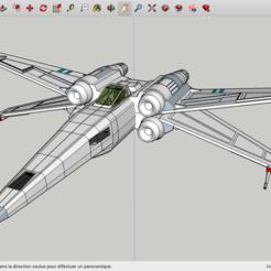 Diseños 3D gratis La Guerra de las Galaxias de X-Wing, Max73D