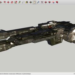 fichier imprimante 3d gratuit Halo 3 UNSC Frigate Aegis Fate, Max73D