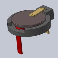 Archivos STL gratis Soporte de batería, Max73D