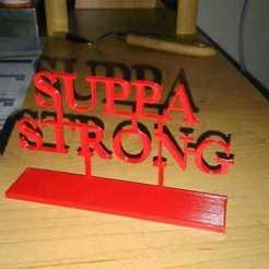 STL gratis SUPPA Logo FUERTE, Max73D