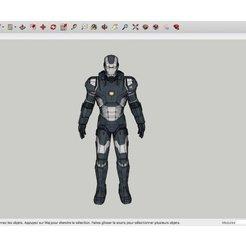 Free 3D model War_Machine_Iron_Man, Max73D