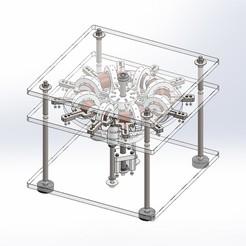 modelo stl gratis motor Perendev, Max73D