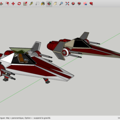 Archivos STL gratis Jedi Fighter Star Wars, Max73D