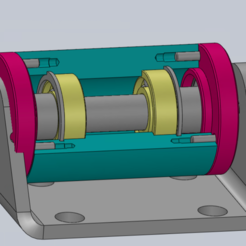 Free 3d printer designs TP Mounting Bearing SW, Max73D