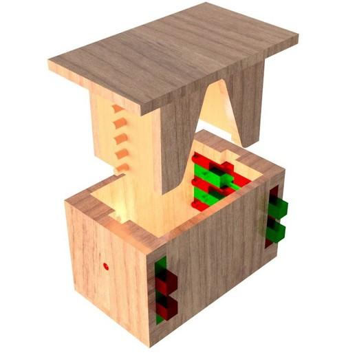Top_Level_Assy.jpg Télécharger fichier STL gratuit Boîte de casse-tête combinée • Modèle à imprimer en 3D, mtairymd