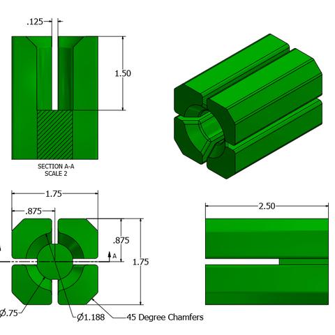 1.PNG Télécharger fichier STL Supports d'installations d'air • Design à imprimer en 3D, mtairymd