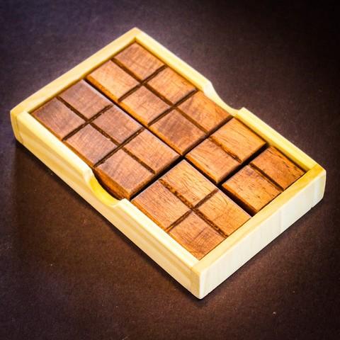 IMG_8230.jpg Download STL file Chocolate Bar Puzzle • 3D print design, mtairymd