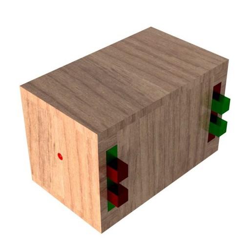 Top_Level_Assy_closed.jpg Télécharger fichier STL gratuit Boîte de casse-tête combinée • Modèle à imprimer en 3D, mtairymd