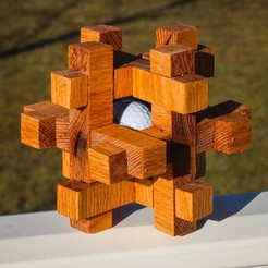 Free STL Caged Golf Ball Puzzle, mtairymd