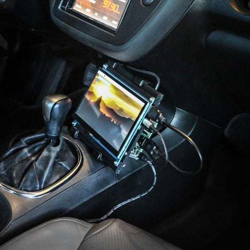 picture.jpg Download free STL file Raspberry Pi Car Mount • Model to 3D print, mtairymd