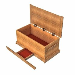 Download free 3D printer model African Mahogany Blanket Chest, mtairymd
