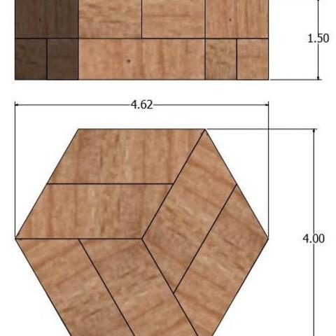 1.jpg Télécharger fichier STL gratuit Puzzle hexagonal • Modèle pour imprimante 3D, mtairymd