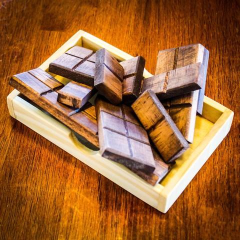 IMG_8208.jpg Download STL file Chocolate Bar Puzzle • 3D print design, mtairymd