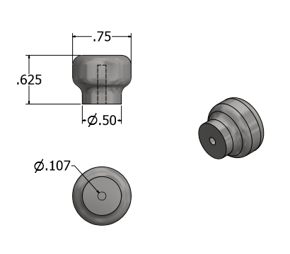 knob.PNG Download free STL file Trammel of Archimedes • 3D printing template, mtairymd