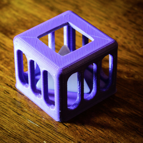 Free 3d print files Caged Tetrahedron Puzzle, mtairymd