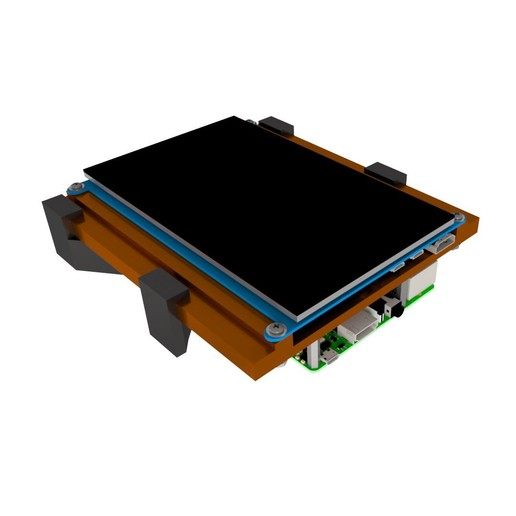 Top_Level1.JPG Download free STL file Raspberry Pi Car Mount • Model to 3D print, mtairymd