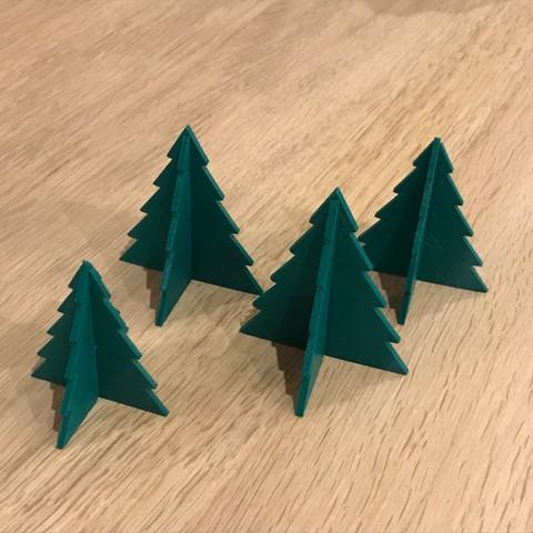 STL gratis árbol navideño, HB57