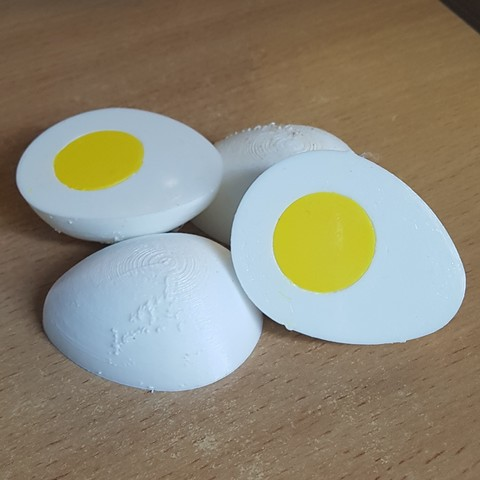 Download 3D printer designs Half Hard Egg, yalcars