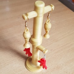 3d printer files Hanging Earring Supports, yalcars