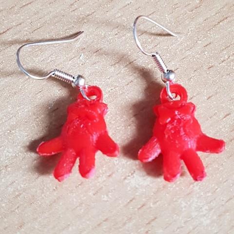 20180923_175138.jpg Download STL file Earrings Pendant - Minnie Gloves • 3D printer design, yalcars