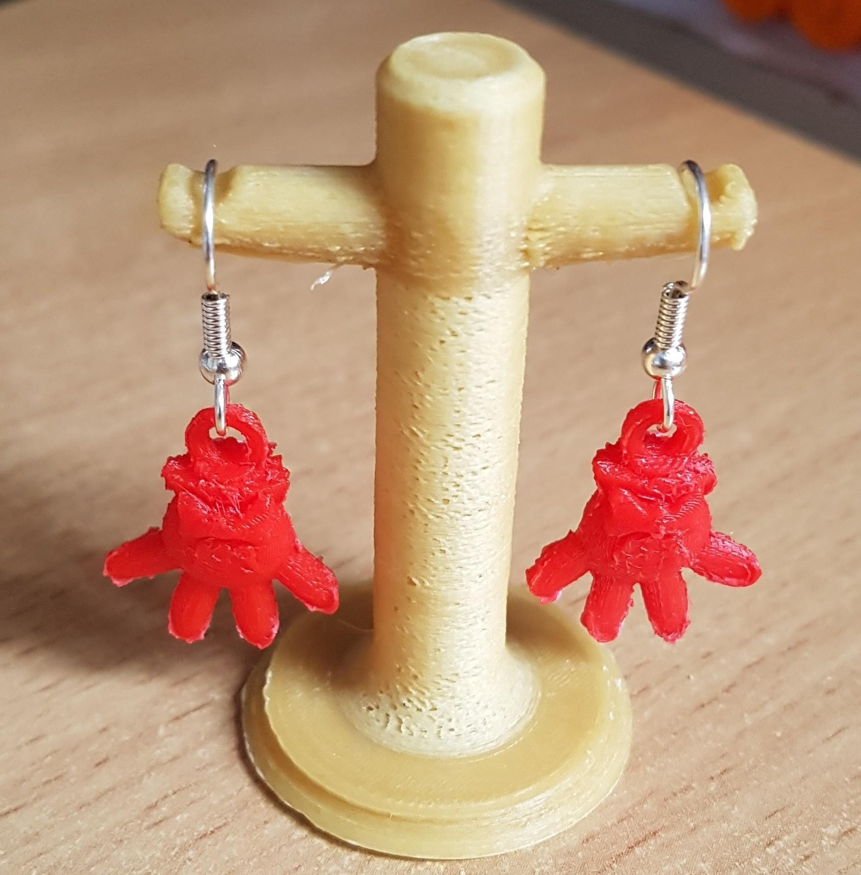20180923_175029.jpg Download STL file Earrings Pendant - Minnie Gloves • 3D printer design, yalcars