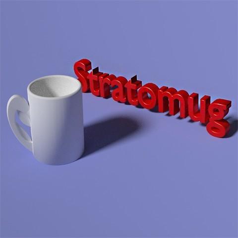 MUG PRINT03.jpg Download free OBJ file STRATOMAKER MUG • 3D print template, Chris48