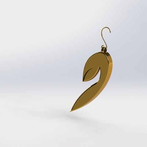 01.JPG Download STL file STRATOMAKER Earrings • Model to 3D print, Chris48
