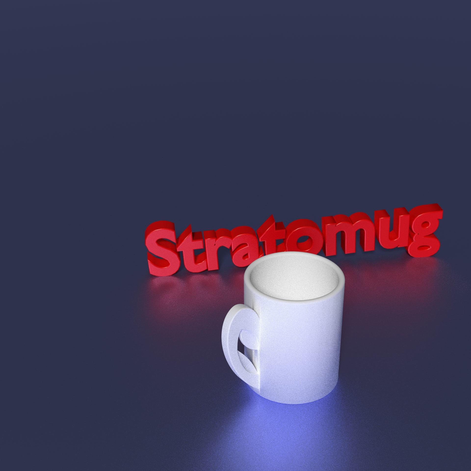 100.jpg Download free OBJ file STRATOMAKER MUG • 3D print template, Chris48