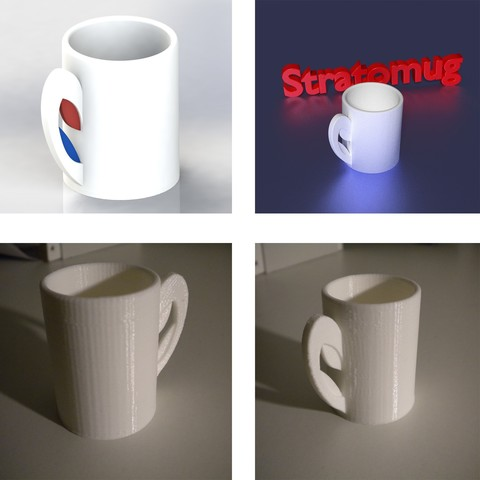 Download free 3D printer files STRATOMAKER MUG, Chris48