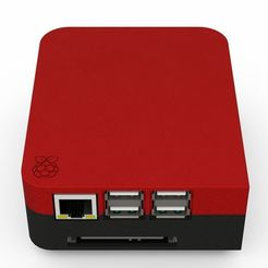 Download free 3D printer designs Raspberry Pi 3 B+ enclosure, kgitman