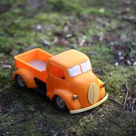 """스크린샷 2020-09-27 오후 3.00.19.jpg Télécharger fichier STL Impression 3D de la voiture RC """"Ford COE truck"""". • Design imprimable en 3D, limo"""