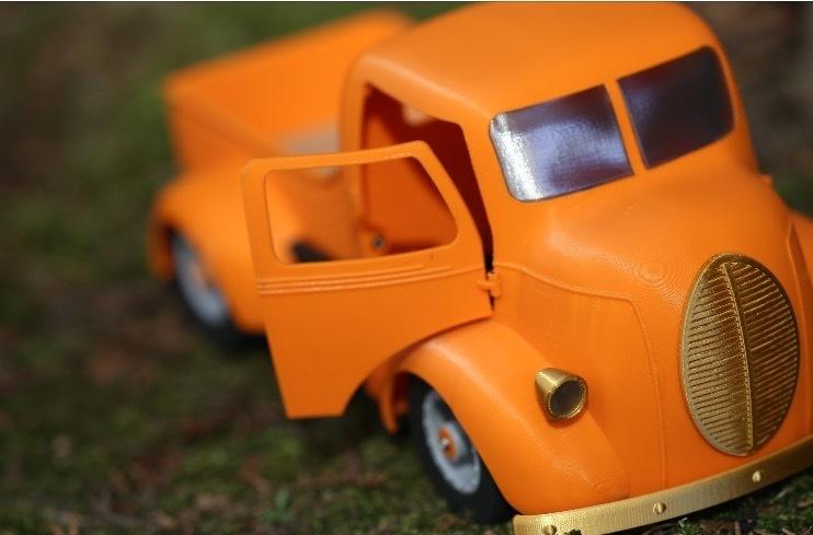 """스크린샷 2020-09-27 오후 5.05.25.jpg Télécharger fichier STL Impression 3D de la voiture RC """"Ford COE truck"""". • Design imprimable en 3D, limo"""