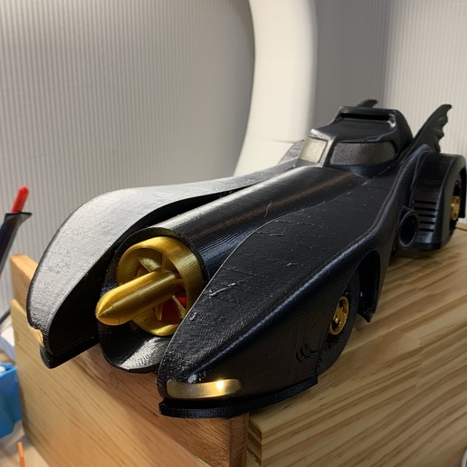 Download 3D printer designs RC CAR ' batmobile 1989', limo