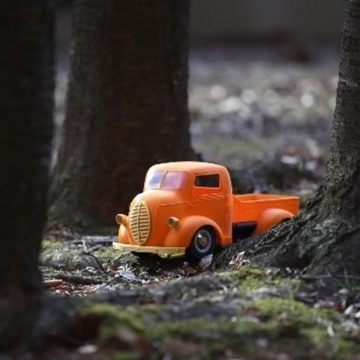 """스크린샷 2020-09-27 오후 5.05.04.jpg Télécharger fichier STL Impression 3D de la voiture RC """"Ford COE truck"""". • Design imprimable en 3D, limo"""
