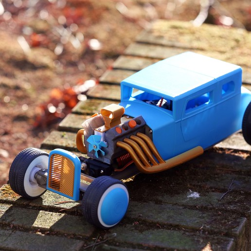 Download 3D printing designs RC CAR  Hot Rod  , limo