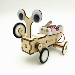 123654789.jpg Download STL file 3D Robot and MDF • 3D print object, christian594