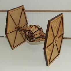 TIE Fighter1.jpg Download STL file Star Wars TIE Fighter • 3D printable object, christian594