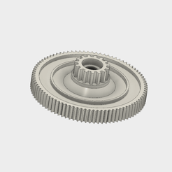 Download free 3D printer designs double toothed wheel 15/86 teeth, gearing, Andrieux