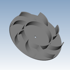 Download free 3D printer designs single turbine, Andrieux