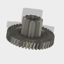 Free 12/42 double gear wheel, gearing 3D model, Andrieux