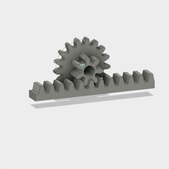 Download free 3D printer designs Gear and rack, Andrieux