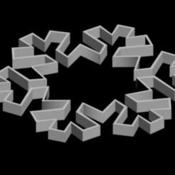Diseños 3D Copo de nieve, Kristaly