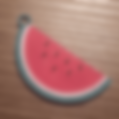 Free 3d printer model watermelon keychain, Giara