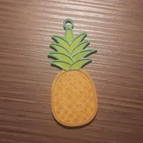 Download free 3D printing templates Pineapple keychain, Giara