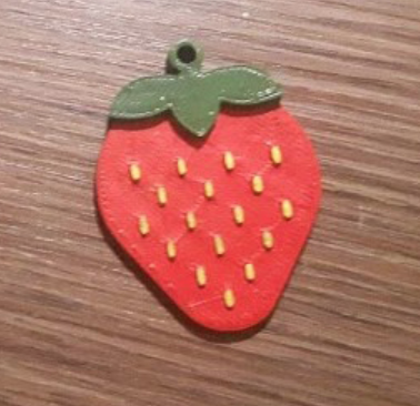Capture d'écran 2018-01-02 à 11.15.41.png Download free STL file Strawberry keychain • 3D printable template, Giara
