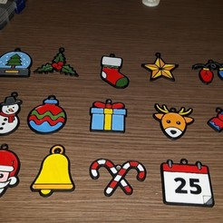 Free 3D printer designs 15 christmas decorations, Giara