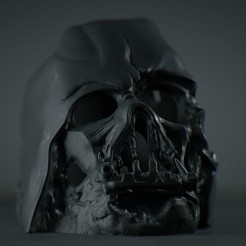 darth-vader-melted-mask_1.jpg Download free OBJ file Darth Vader Melted Mask • 3D printing template, diegoripp